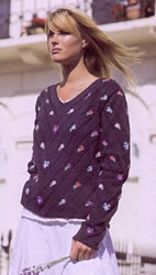 Diagonal Flowers Sweater