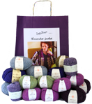 a Sasha Kagan knitting kit