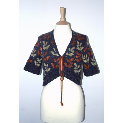 Leafy Bolero in treacle - front view