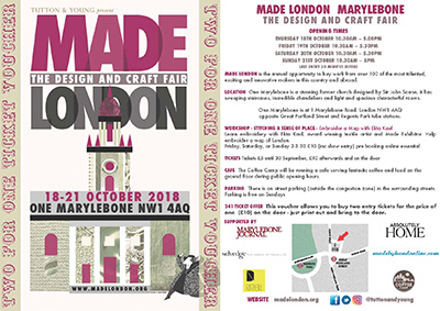 flier for Made London 2018