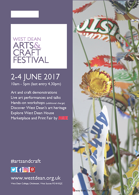 West Dean Arts & Crafts Festival 2017 poster