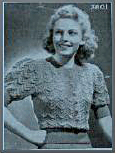 A knitting pattern from the 1950s
