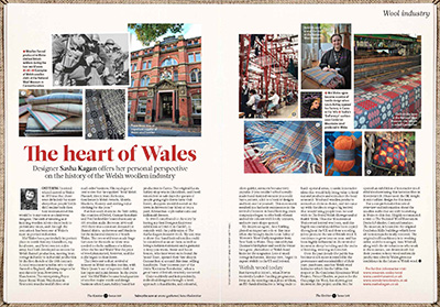 article about the Welsh woolen industry by Sasha Kagan, from The Knitter magazine