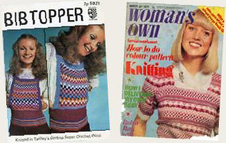 Twilley's pattern 1971, and Woman's Own cover, 1974